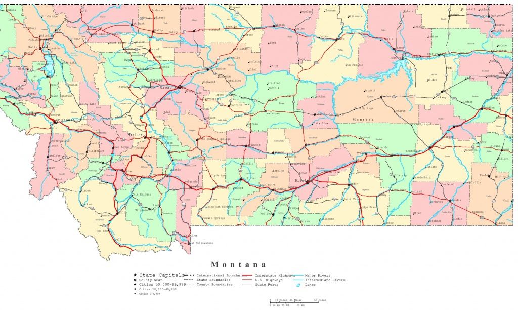 Montana Printable Map - Printable State Maps With Highways