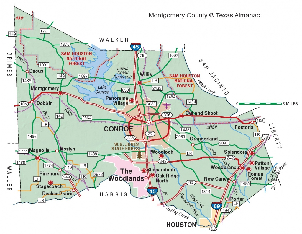 Montgomery County | The Handbook Of Texas Online| Texas State - New Caney Texas Map