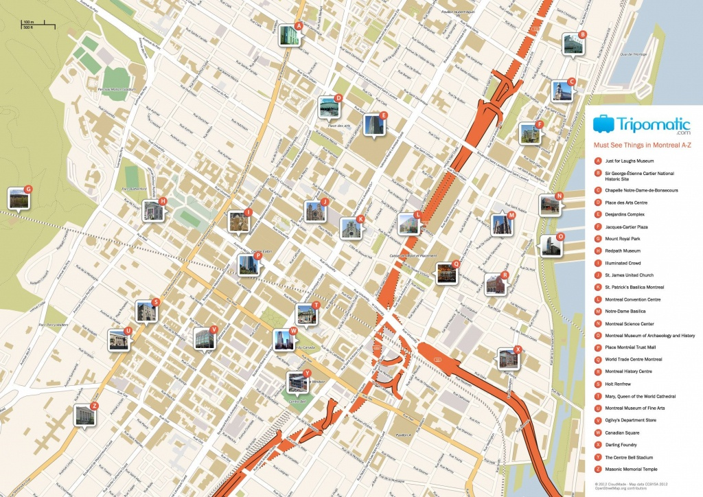 Montreal Printable Tourist Map In 2019 | Free Tourist Maps - Printable Map Of Montreal