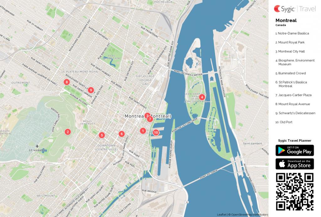 Montreal Printable Tourist Map | Montreal | Tourist Map, Map - Printable Map Of Montreal