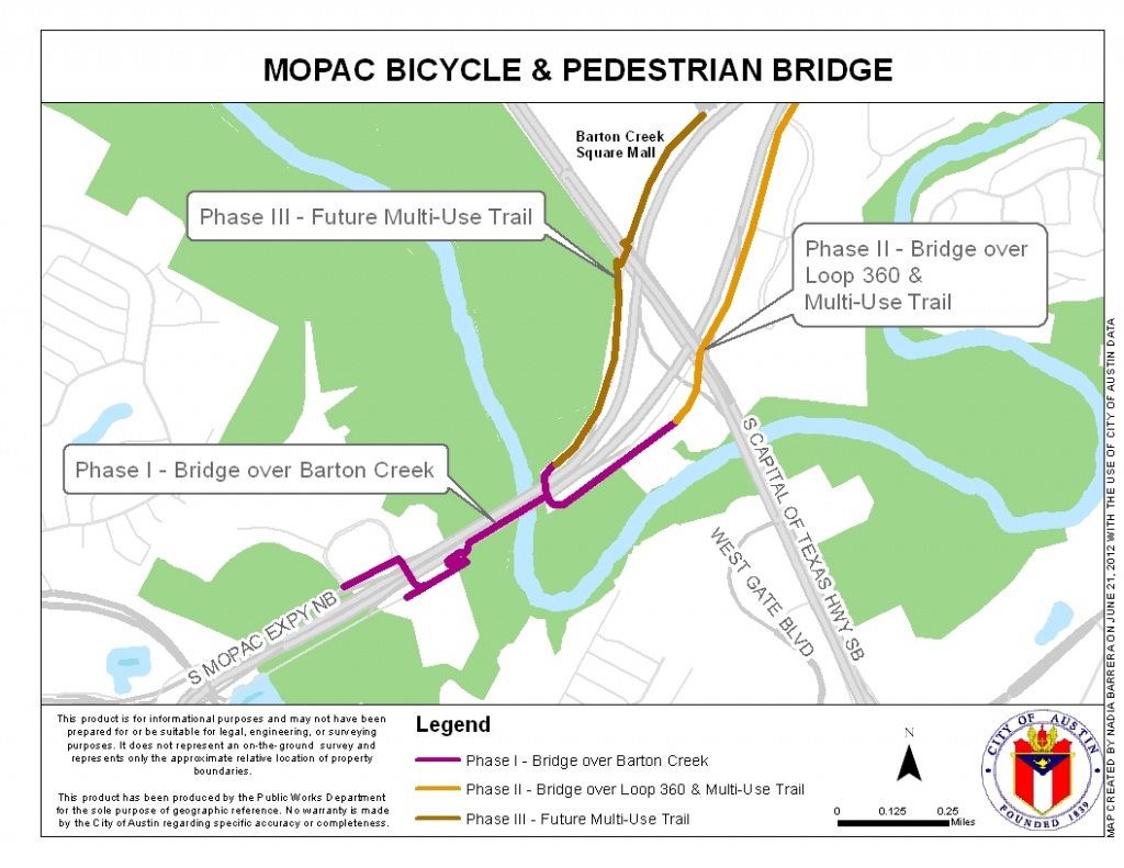 Mopac Mobility Bridges | Austintexas.gov - The Official Website Of - Austin Texas Bicycle Map