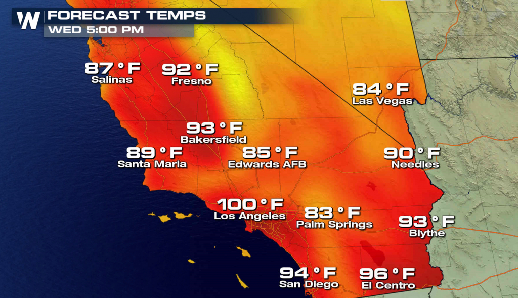 More Record Heat In Southern California - Hot Again For The World - Heat Map Southern California