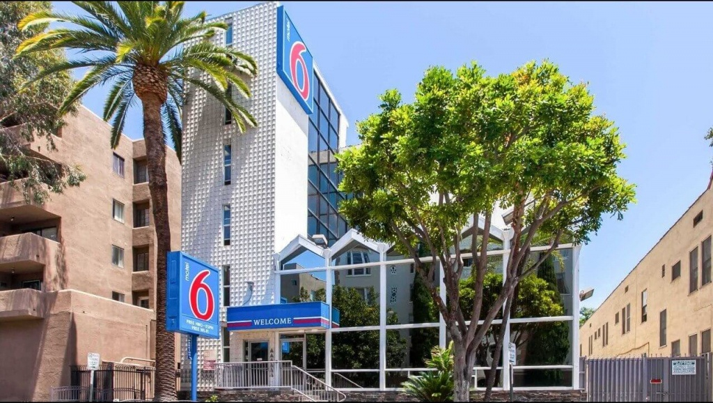 Motel 6 Hollywood Los Angeles Hotel | Hotels Near Hollywood Walk Of Fame - Map Of Hotels Near Universal Studios California