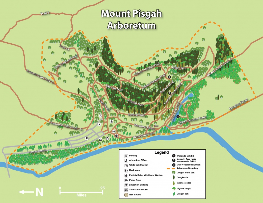 Mount Pisgah Arboretum Trail Maps | Mount Pisgah Arboretum - Printable Hiking Maps