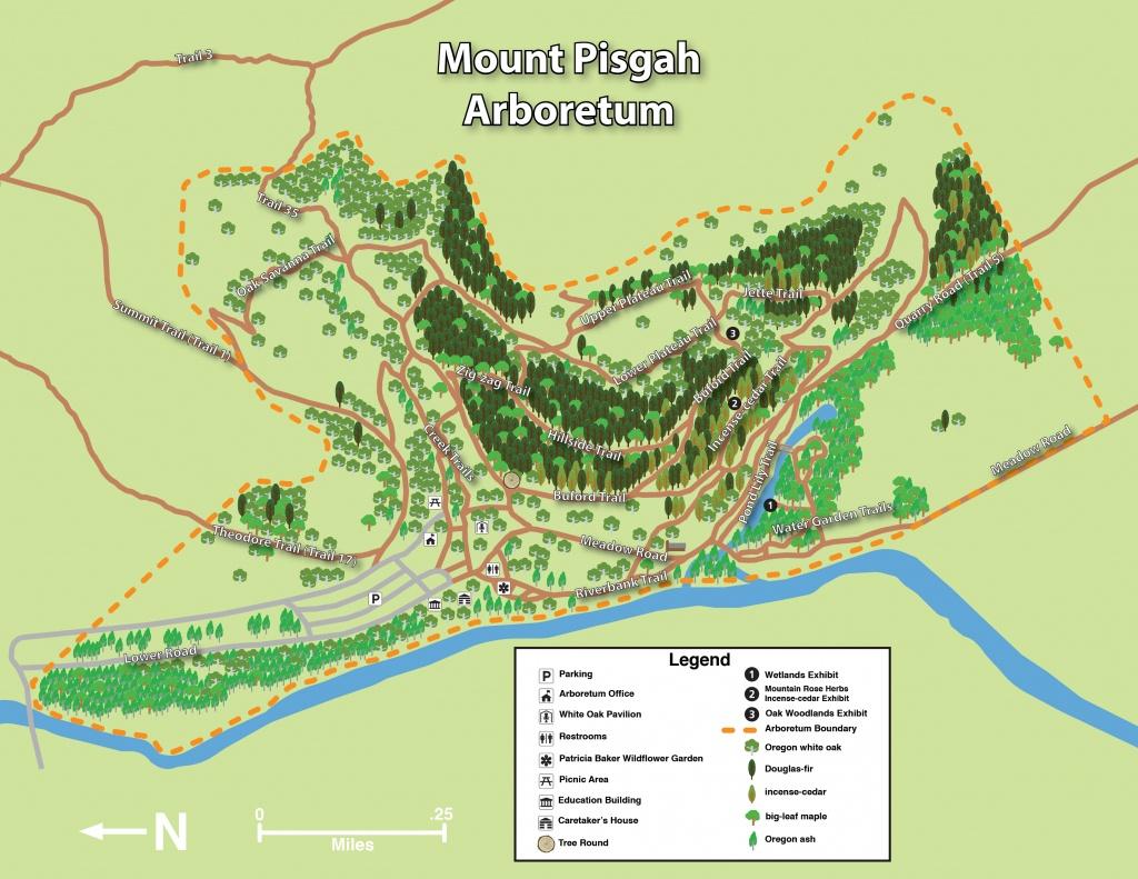 Mount Pisgah Arboretum Trail Maps   Mount Pisgah Arboretum - Printable Trail Maps