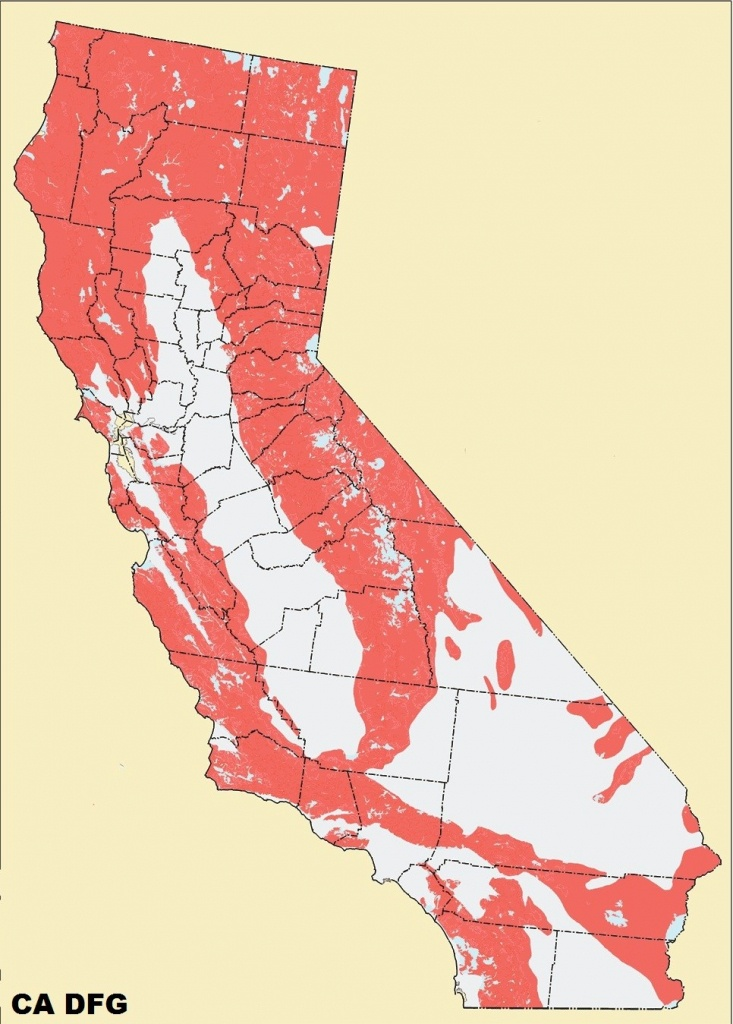Mountain Lions Drop Deer Population In California | Harvesting Nature - Mountain Lions In California Map