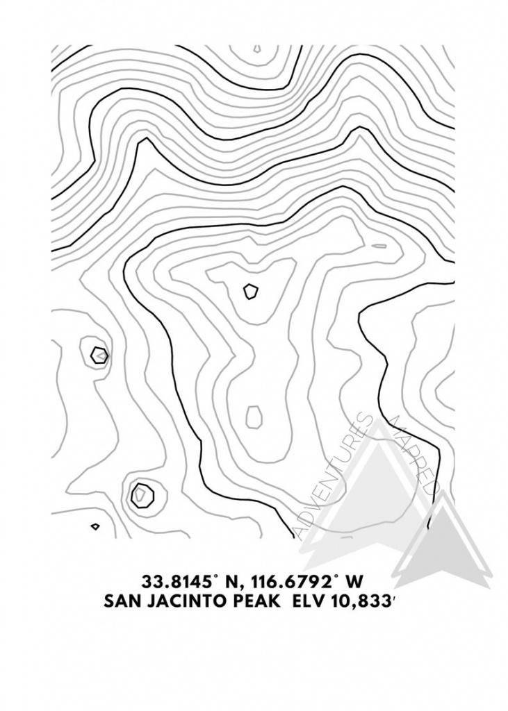 Mt. San Jacinto Topographic Map Printable Digital Download | Etsy - Topographic Map Printable
