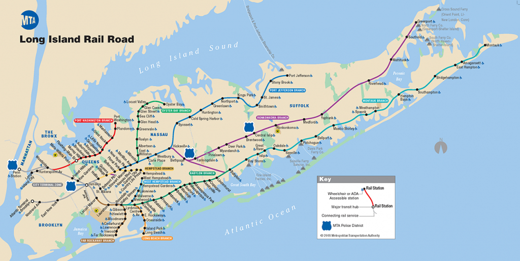 Mta Lirr - Lirr Map - Printable Map Of Long Island Ny