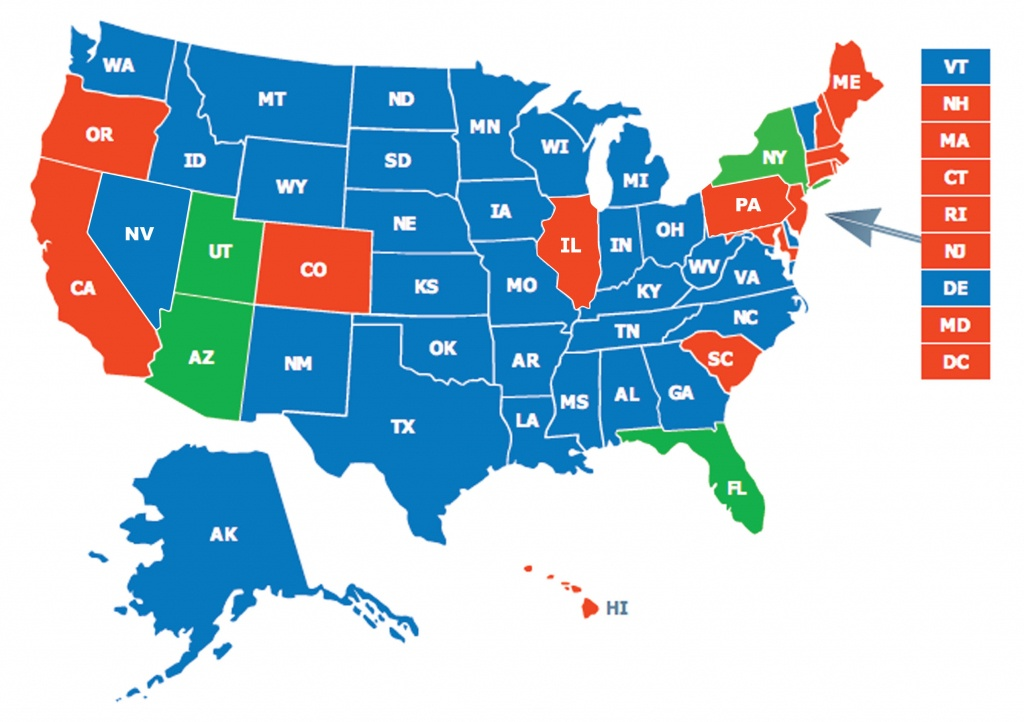 Multi-State Ccw Class - Florida Concealed Carry Map