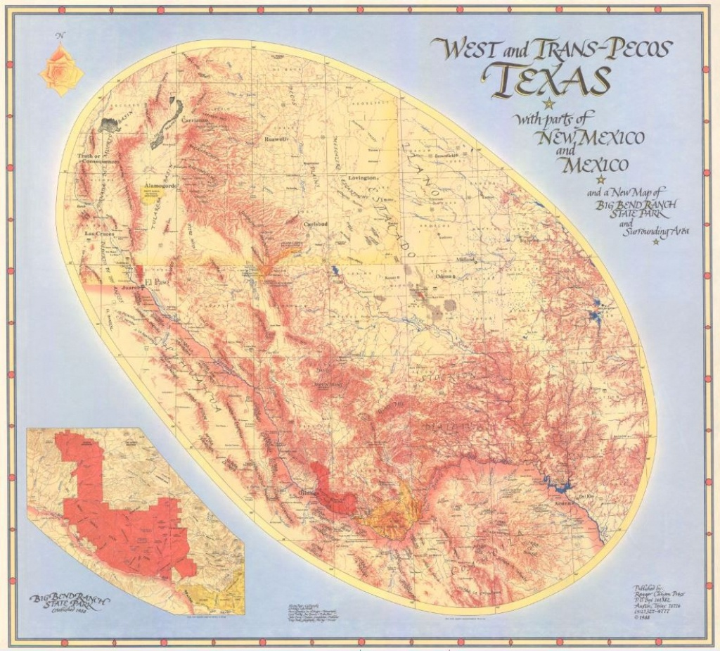 My Favorite Map: West And Trans-Pecos Texas With Parts Of New Mexico - Pecos Texas Map