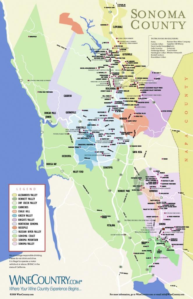 Sonoma Wineries Map Printable
