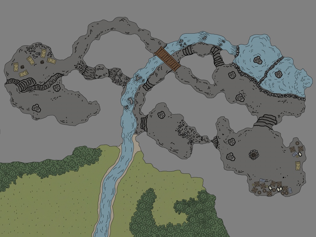 My Rendition Of Cragmaw Hideout : Battlemaps - Cragmaw Hideout Printable Map