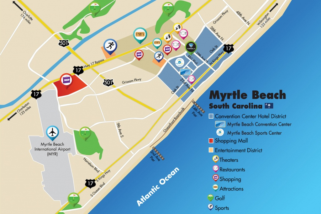 Myrtle Beach Convention Center Directions And Parking - Myrtle Beach Florida Map