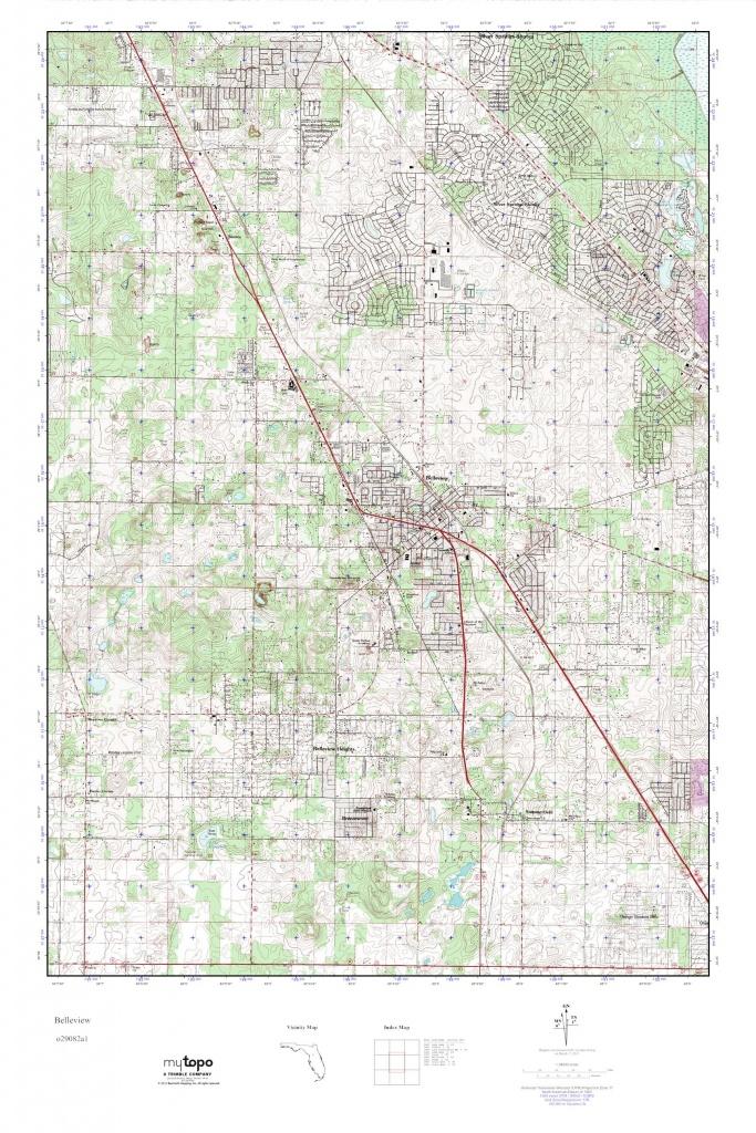 Mytopo Belleview, Florida Usgs Quad Topo Map - Belleview Florida Map