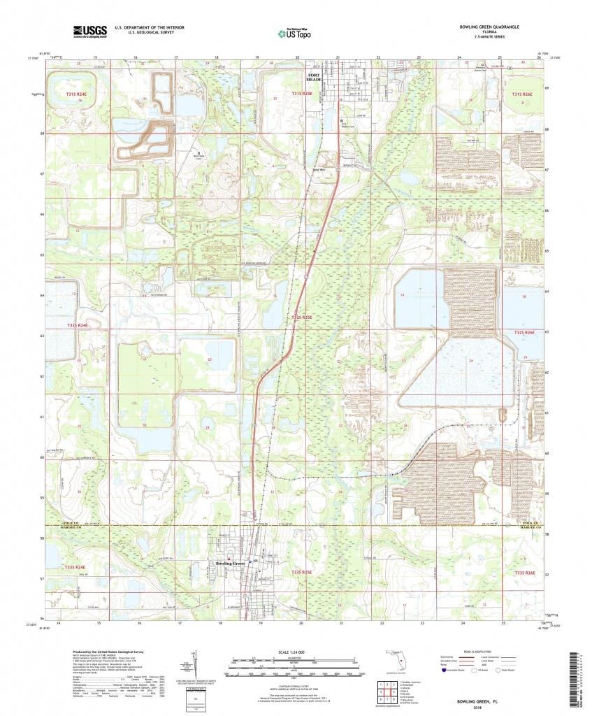 Mytopo Bowling Green, Florida Usgs Quad Topo Map - Bowling Green Florida Map