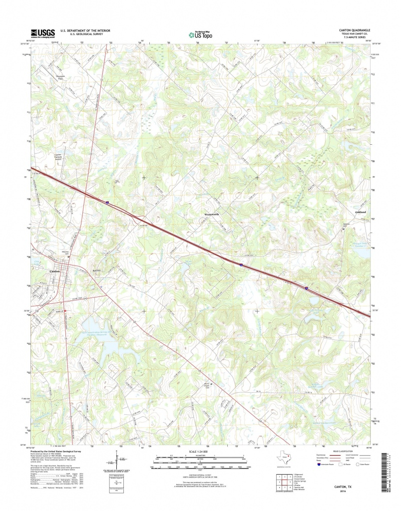 Mytopo Canton, Texas Usgs Quad Topo Map - Canton Texas Map