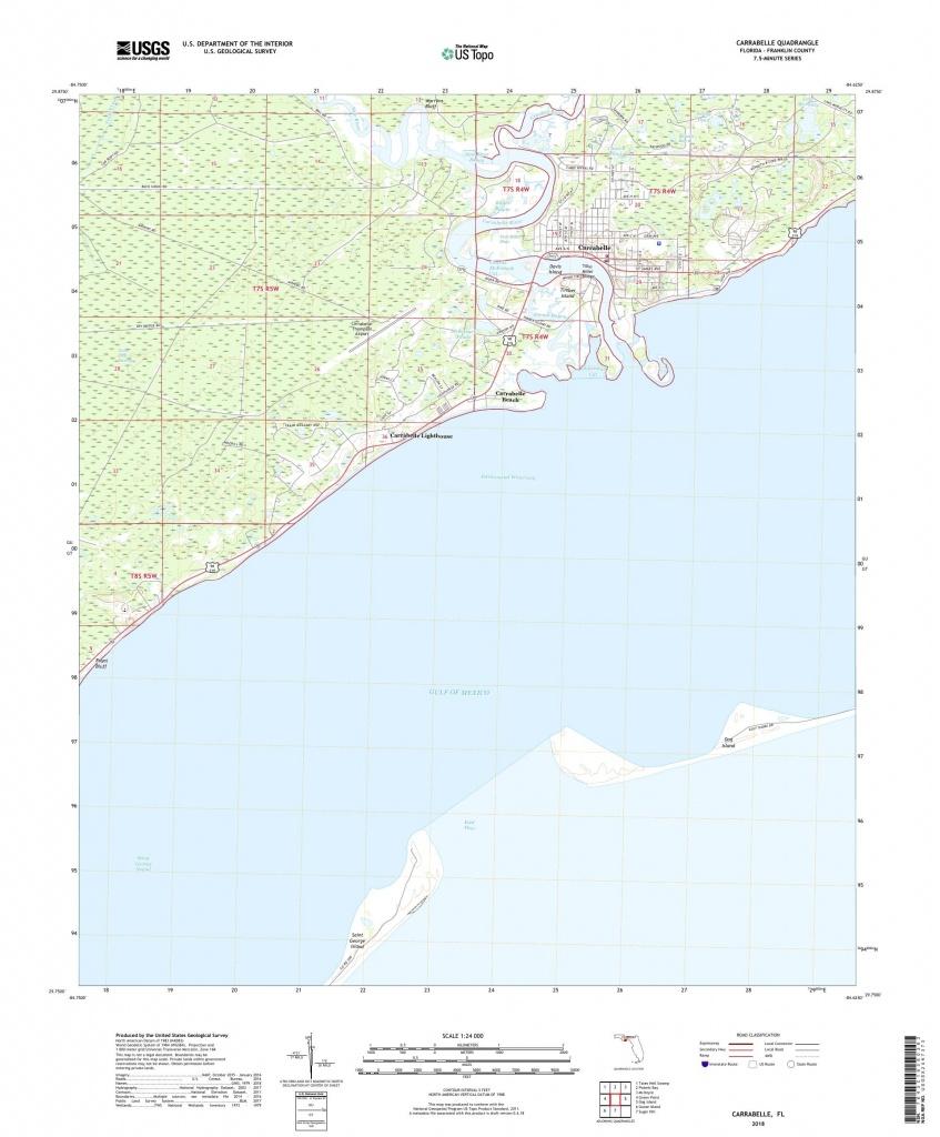 Mytopo Carrabelle, Florida Usgs Quad Topo Map - Carrabelle Island Florida Map