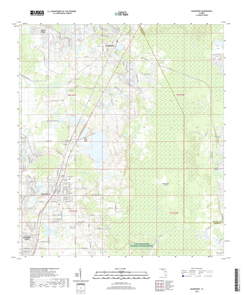 Mytopo Davenport, Florida Usgs Quad Topo Map - Davenport Florida Map