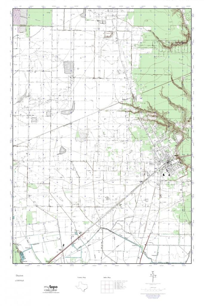 Mytopo Dayton, Texas Usgs Quad Topo Map - Dayton Texas Map