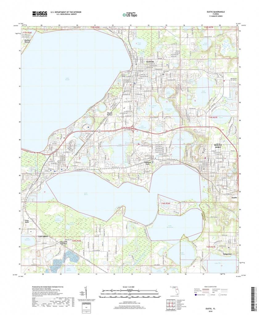 Mytopo Eustis, Florida Usgs Quad Topo Map - Usgs Topographic Maps Florida