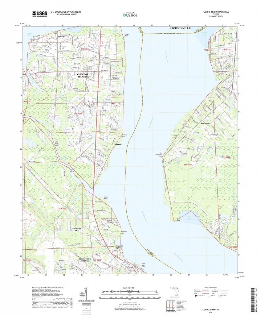 Mytopo Fleming Island, Florida Usgs Quad Topo Map - Fleming Island Florida Map