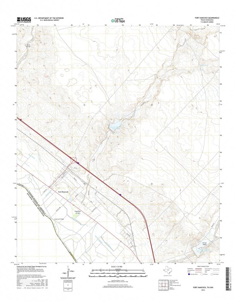 Mytopo Fort Hancock, Texas Usgs Quad Topo Map - Fort Hancock Texas Map