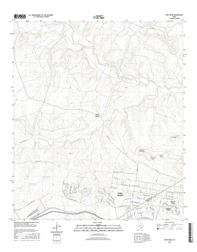Mytopo Fort Hood, Texas Usgs Quad Topo Map - Fort Hood Texas Map