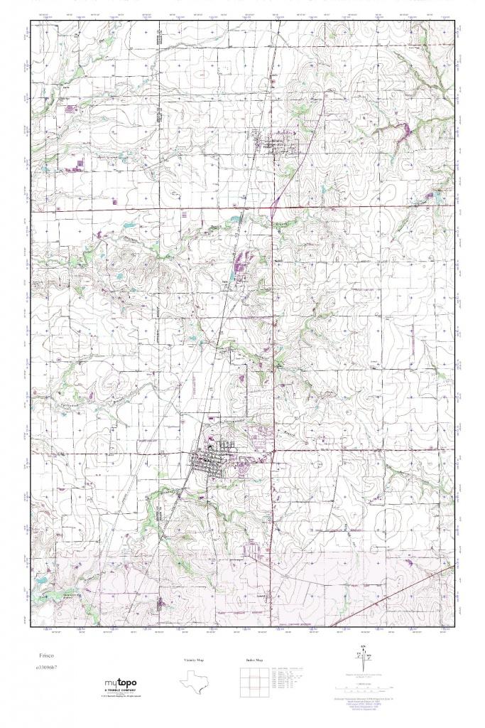 Mytopo Frisco, Texas Usgs Quad Topo Map - Frisco Texas Map