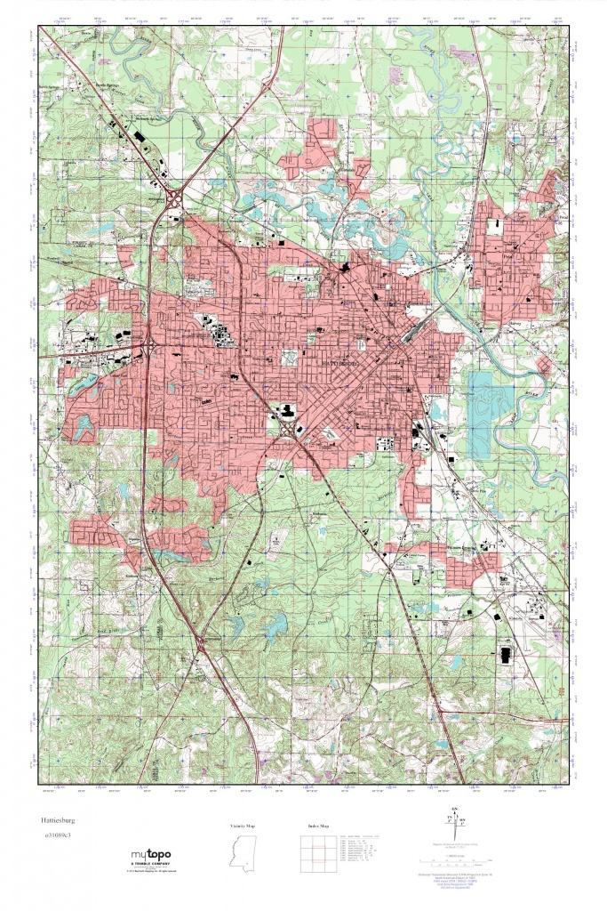 Mytopo Hattiesburg, Mississippi Usgs Quad Topo Map - Usgs Printable Maps