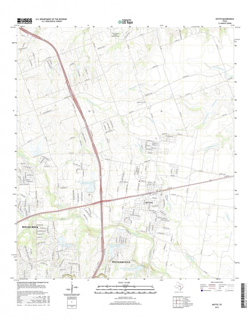 Mytopo Hutto, Texas Usgs Quad Topo Map - Hutto Texas Map