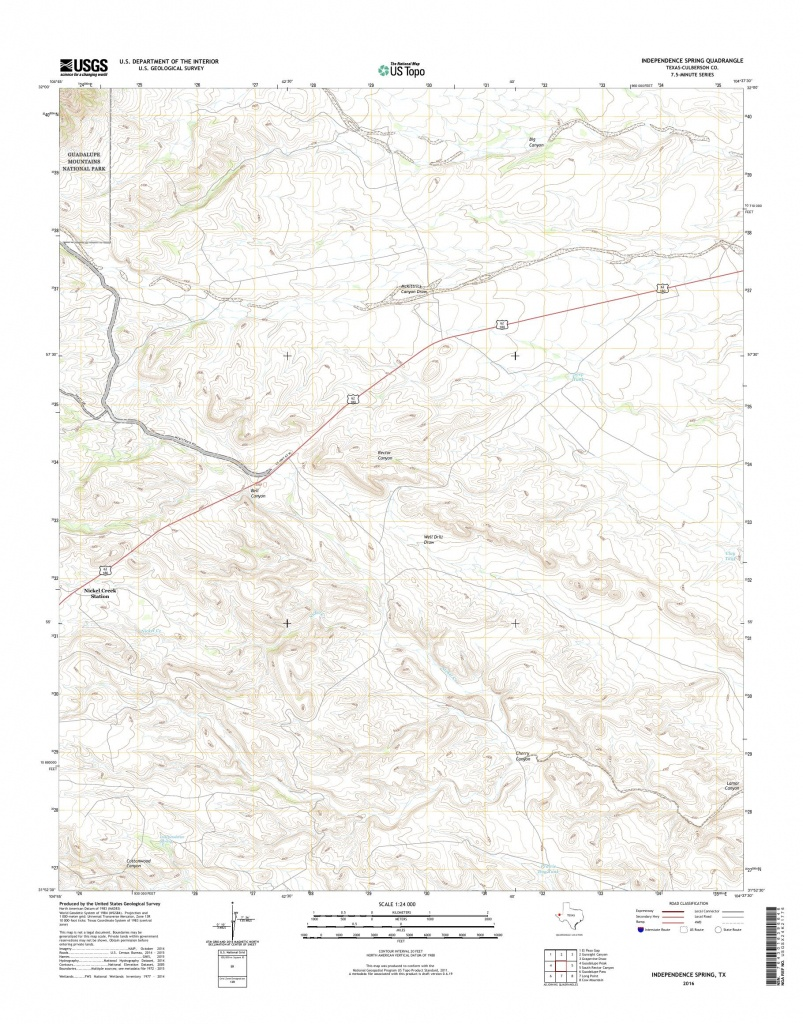 Mytopo Independence Spring, Texas Usgs Quad Topo Map - Spring Texas Map