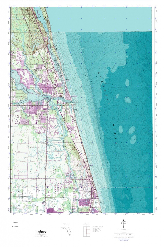 Mytopo Jupiter, Florida Usgs Quad Topo Map - Where Is Jupiter Florida On The Map
