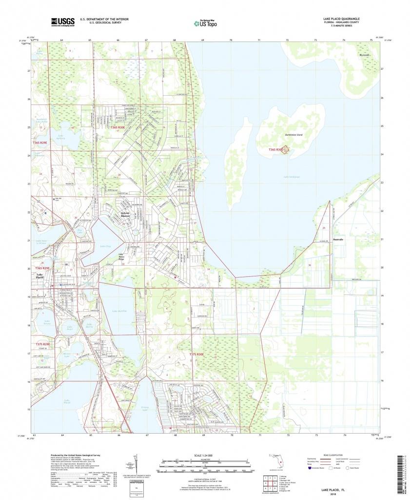 Mytopo Lake Placid, Florida Usgs Quad Topo Map - Lake Placid Florida Map