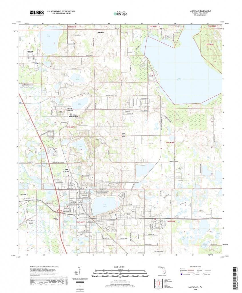 Mytopo Lake Wales, Florida Usgs Quad Topo Map - Lake Wales Florida Map