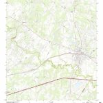 Mytopo Luling, Texas Usgs Quad Topo Map   Luling Texas Map