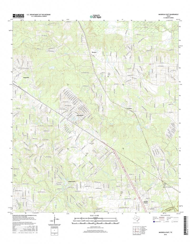 Mytopo Magnolia East, Texas Usgs Quad Topo Map - Magnolia Texas Map
