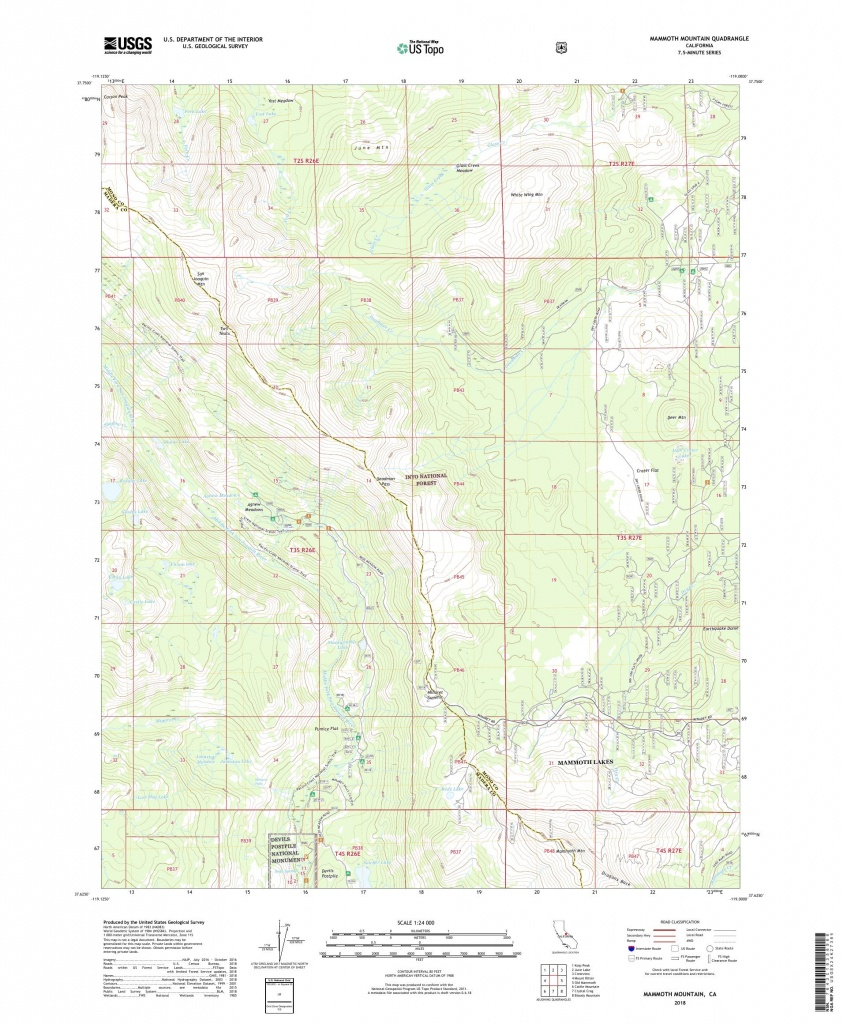 Mytopo Mammoth Mountain, California Usgs Quad Topo Map - Mammoth California Map