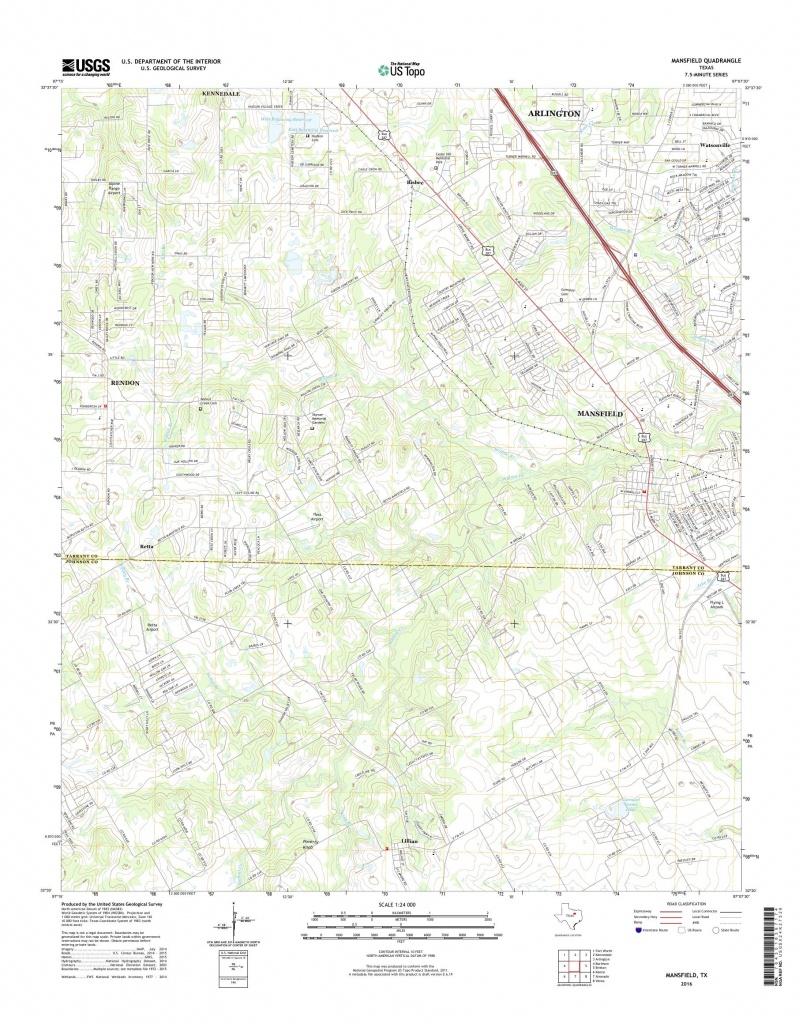 Mytopo Mansfield, Texas Usgs Quad Topo Map - Mansfield Texas Map