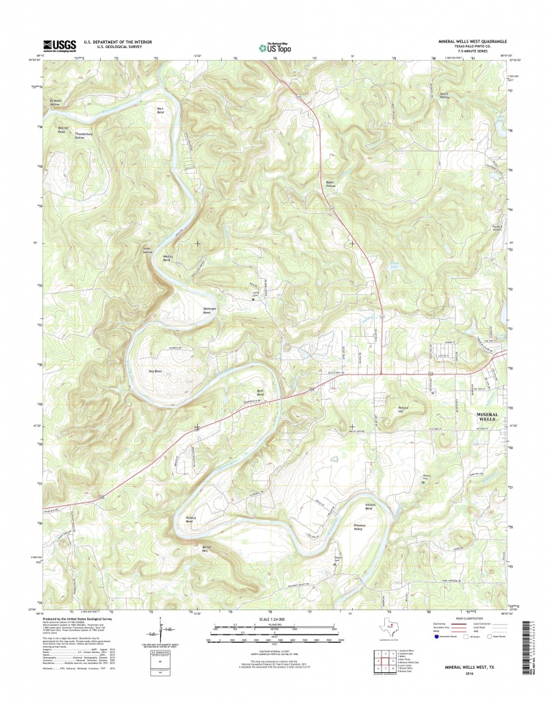 Mytopo Mineral Wells West, Texas Usgs Quad Topo Map - Mineral Wells Texas Map