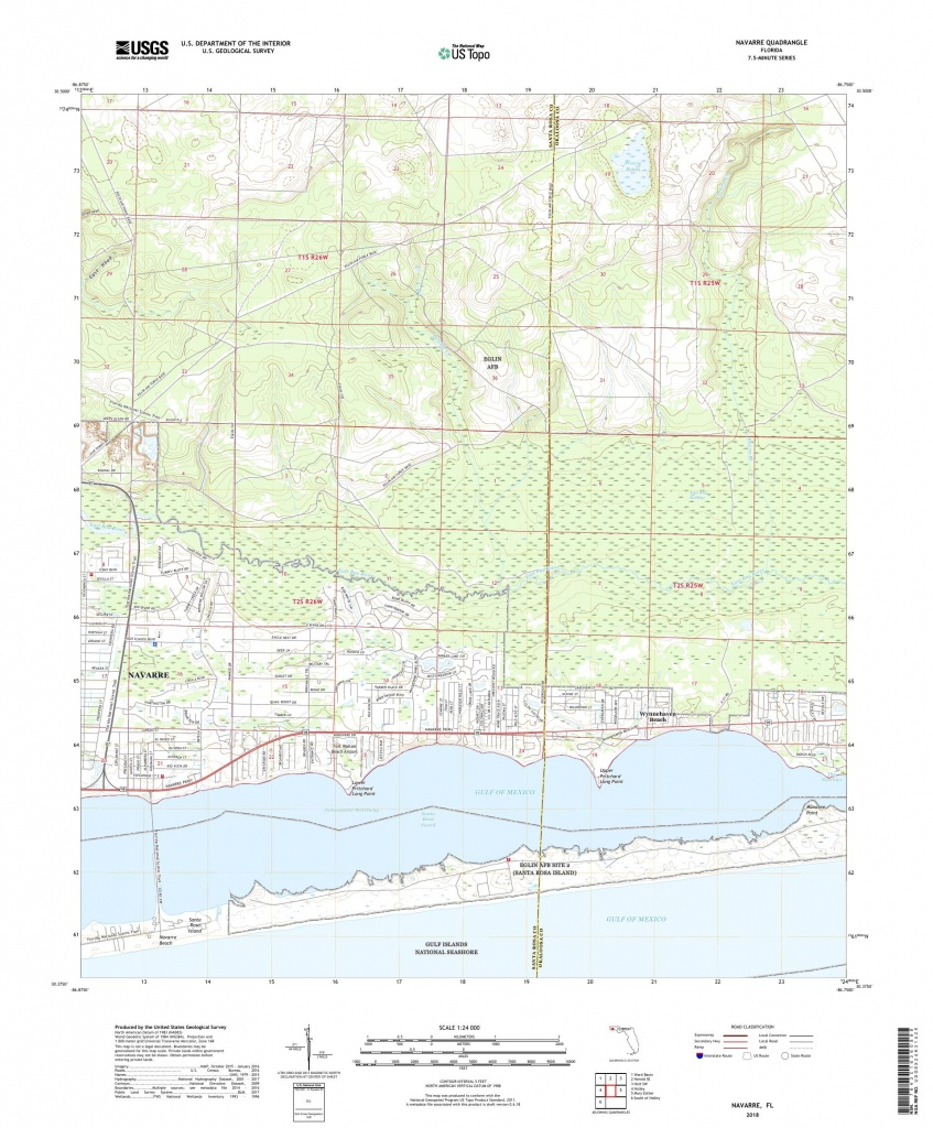 Mytopo Navarre, Florida Usgs Quad Topo Map - Navarre Florida Map