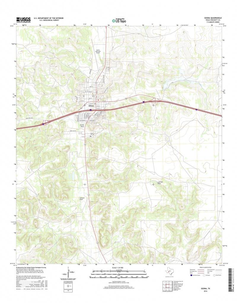 Mytopo Ozona, Texas Usgs Quad Topo Map - Ozona Texas Map