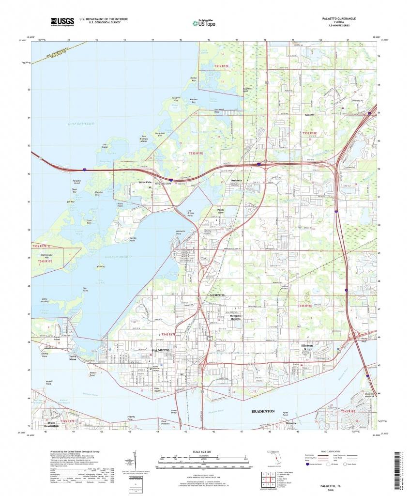 Mytopo Palmetto, Florida Usgs Quad Topo Map - Palmetto Florida Map