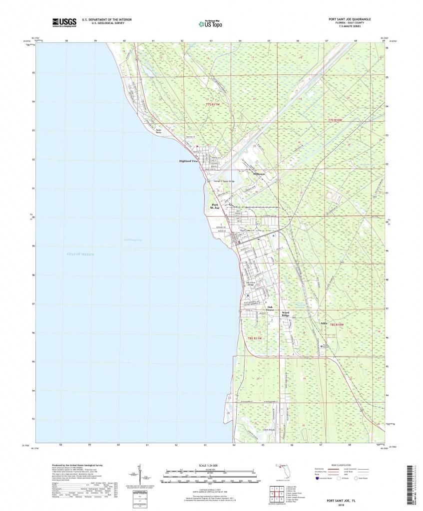 Mytopo Port Saint Joe, Florida Usgs Quad Topo Map - Port St Joe Florida Map