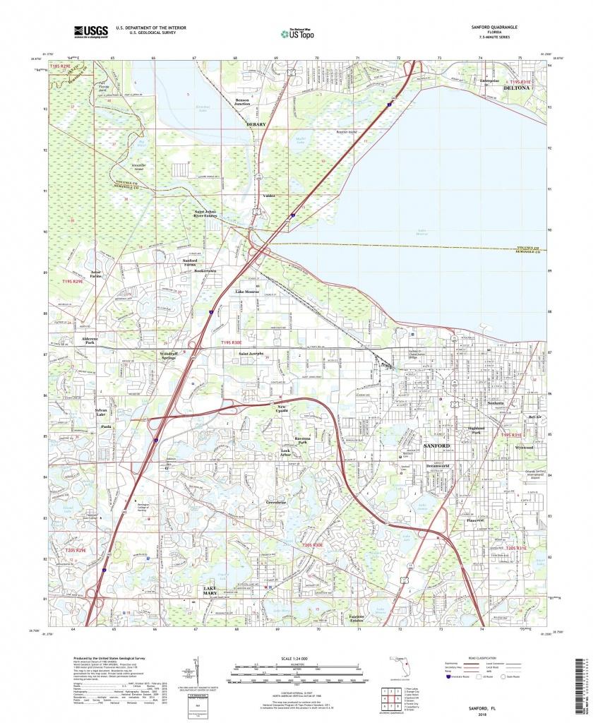 Mytopo Sanford, Florida Usgs Quad Topo Map - Sanford Florida Map