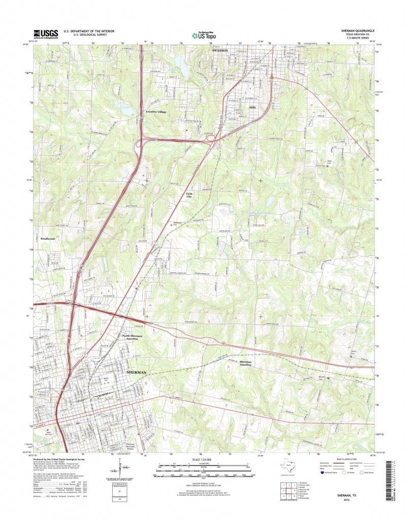 Mytopo Sherman, Texas Usgs Quad Topo Map - Sherman Texas Map