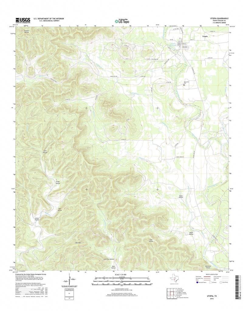 Mytopo Utopia, Texas Usgs Quad Topo Map - Utopia Texas Map