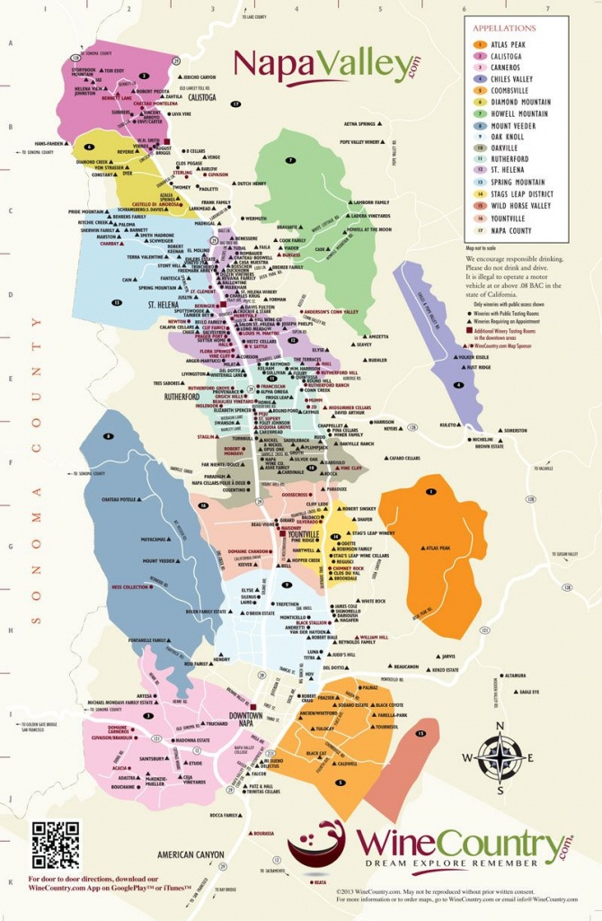 Napa Valley Wineries Map   An Adventure, A Journey, A Destination - Wine Country Map Of California