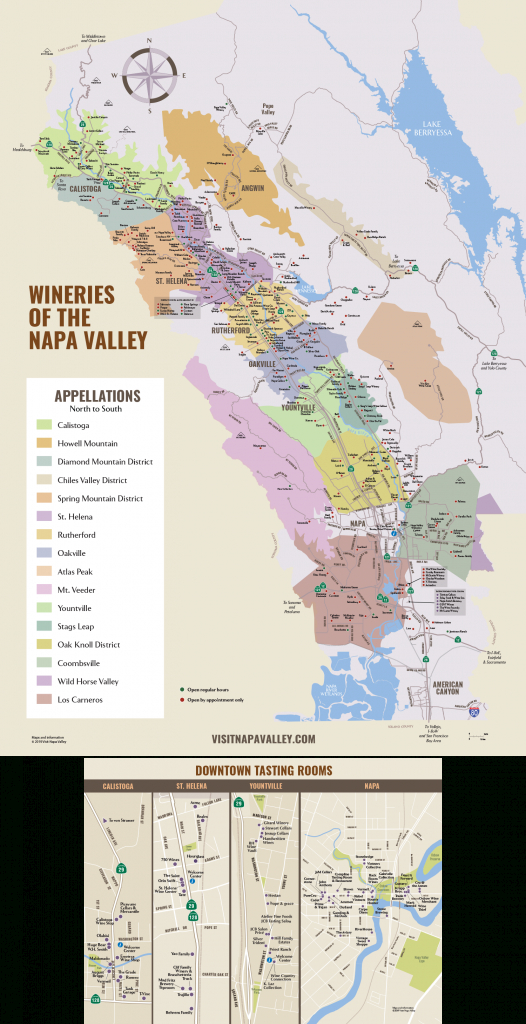 Napa Valley Winery Map | Plan Your Visit To Our Wineries - Napa Valley California Map