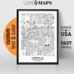 Naperville Illinois Map Naperville City Print Naperville | Etsy   Printable Map Of Naperville Il