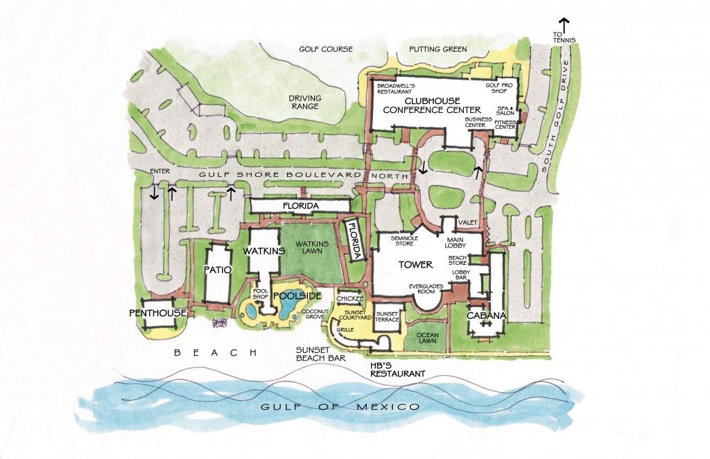 Naples Beach Hotel Resort Map - Naples Florida Beaches Map